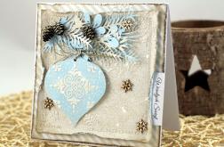 Kartka z bombką na Boże Narodzenie