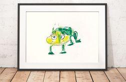 Żaba plakat do pokoju dziecięcego grafika
