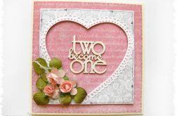 Kartka na ślub z sercem 1