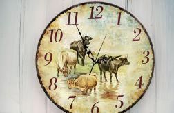Zegar Ścienny Zwierzęta Country Prezent