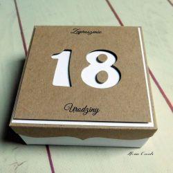 Zaproszenia na osiemnastkę 18 3d box eko rust