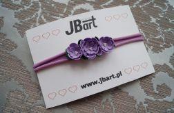 Fioletowe kwiatki opaska na główkę