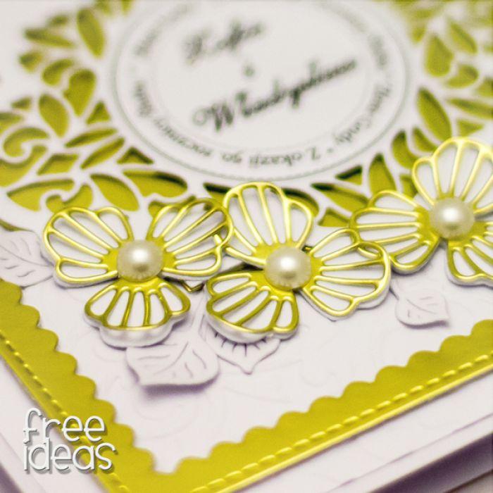Złote gody kartka na rocznicę KZG1801 - złote małżeństwo