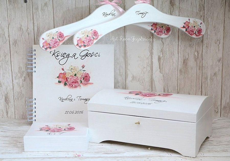 Kufer na koperty ślubne PEONIA