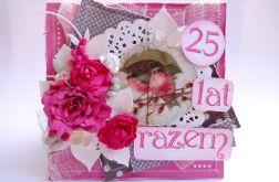 Kartka na 25 rocznicę ślubu