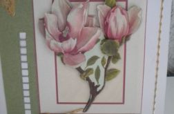 Kartka z magnolią