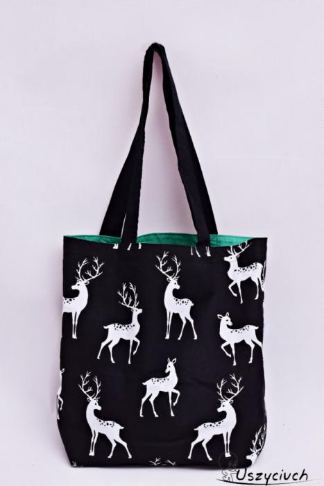 Torba na zakupy ekologiczna Shopperka jelenie