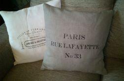 Poszewka lniana Paris