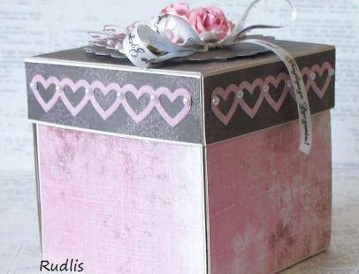 Ślubne pudełko z kieszonkami