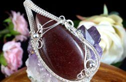 Kwarc, Srebrny wisior z kwarcem truskawkowym