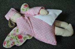 Zabawka tekstylna - Anioł Bartoszek różowy