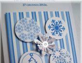 Zodiak - zimowe zaproszenie na ślub