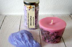 Upominek prezenl lawenda - mydło świeca