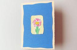 Kartka kwiatek malowany 9