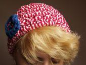 Czapka/beret w stylu marynarskim