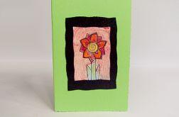 Kartka uniwersalna zielona z kwiatkiem  5