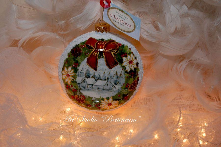 Ptaszek i świąteczny wieniec