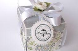 Pudełko na ślub Kwiaty w szarości