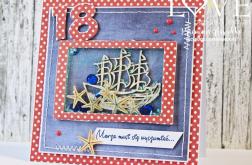 Kartka na 18. urodzin OSIEMNASTKA 13,5 cm
