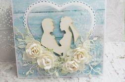 Wiejski ślub - kartka w pudełku
