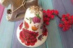 Bombka Dzwonek Ludowe Kwiaty