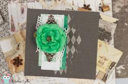 Notes z turkusowym kwiatem
