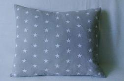 Poduszka w gwiazdy szary