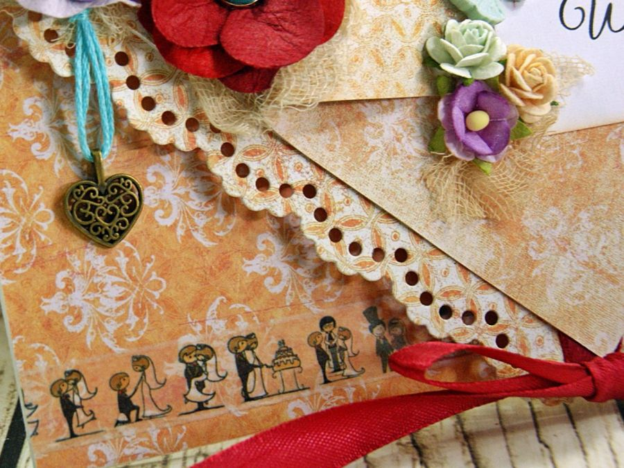 Kartka ślubna- oranżeria -