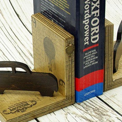 Podpórki do książek - retro car