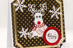 Renifer * Kartka świąteczna KBN1921
