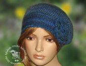 beret/ czapka odcienie niebieskiego