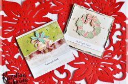 Kartki świąteczne z dzwonkami i wiankiem