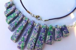 Zielono-fioletowy jaspis,stopniowane kamienie