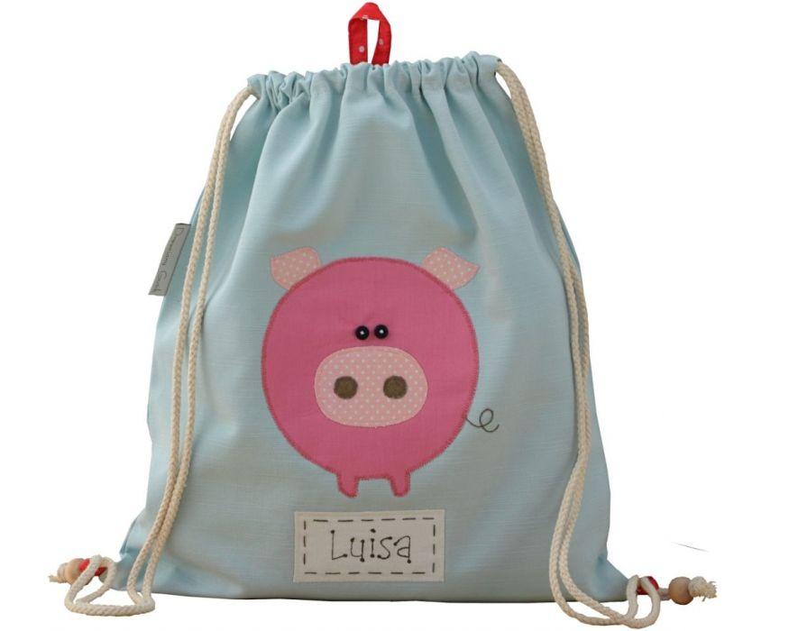 plecak worek do przedszkola haft świnka