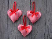 Ozdoby zawieszka na choinkę serce 3 szt