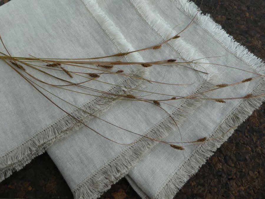Serweta lniana boho naturalna - Nakrycie stołu