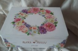 Rustykalne pudełko na koperty ślubne
