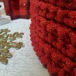 Komplet czerwonych podkładek