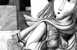 Miasto - oryginalny rysunek 9804