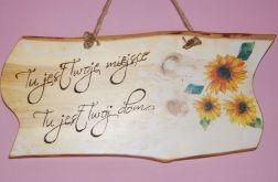 Deska z napisem