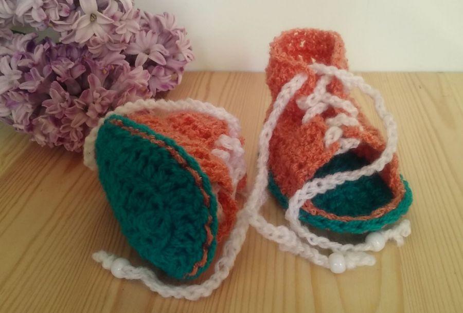 Sandałki sznurowane 10cm