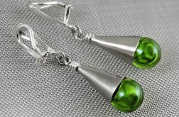Zielone krople - klipsy
