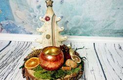 Ceramiczna choinka świecznik stroik