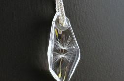 Srebrny wisiorek z żywicy Nasiona dmuchawca
