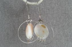 Kolczyki koła z masy perłowej