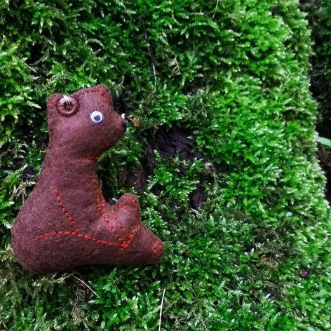 Leśny breloczek - NIEDŻWIADEK
