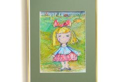 Dziewczynka z kokardą - obrazek do pokoju