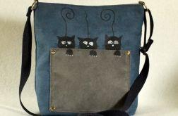 torebka listonoszka z kotkemi dl dziewczynki