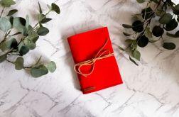 Filcowa okładka na książkę A4 czerwona