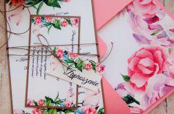 Zaproszenia jednokartkowe flowers # 11